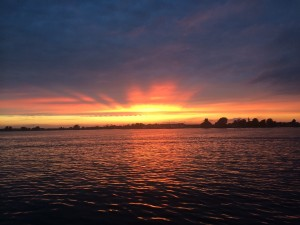 Zwoele zomer avond op Loosdrecht